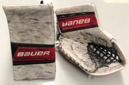 BAUER Supreme 2S Goalie Catcher and Blocker Pro Stock NCAA Custom used