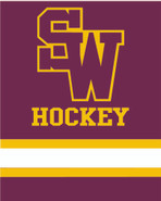 SW High Hockey Sublimated Fleece Sport Stadium Blanket