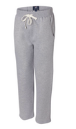 ARHS Hurricanes Hockey J America Cotton Open Bottom Sweatpants Grey