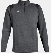 ARHS Hurricanes Hockey Under Armour Hustle 1/4 Zip Charcoal Grey