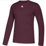 SW High Hockey Adidas Amplifier Long Sleeve Cotton Tee Adult