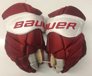 "Bauer Vapor 1x Lite Pro Stock Custom Hockey Gloves 14"" Umass Amherst Used  (4)"