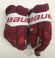 "Bauer supreme 2s Pro Pro Stock Custom Hockey Gloves 14"" Umass Amherst"