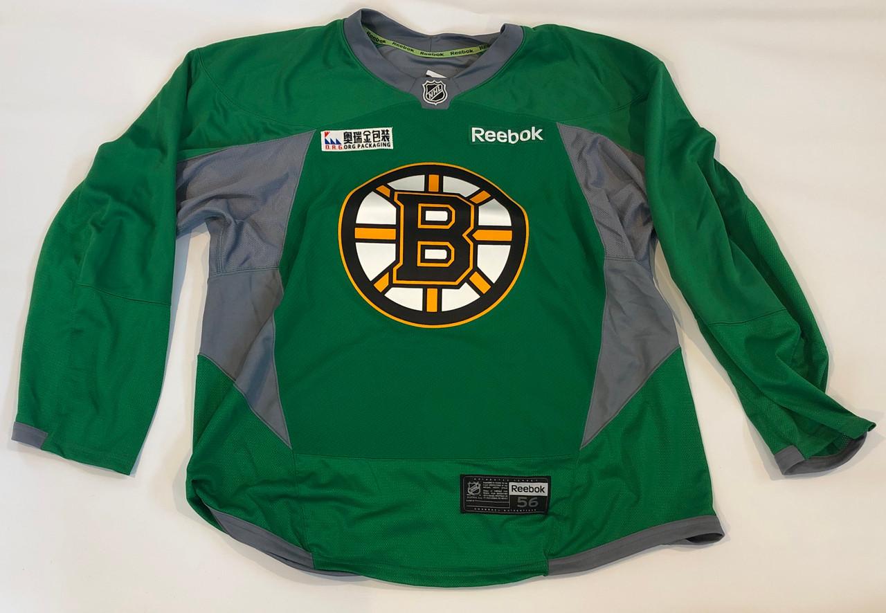 boston bruins green jersey