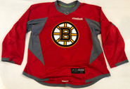 Reebok Edge 3.0 Custom Pro Stock Hockey Practice Jersey Boston Bruins Red 56 New