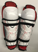 "Bauer X800 Sr Shin Guards Pads 16"" Used"