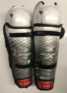 "Bauer APX Sr Shin Guards Pads 17"" Used"