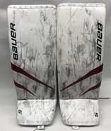 Bauer Supreme 2S Pro Goalie Leg Pads Large Pro Stock NCAA Used