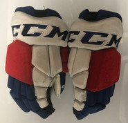 "CCM HGTKPP Pro Stock Hockey Gloves 14"" NHL NY Rangers used (22)"