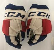 "CCM HGTKPP Pro Stock Hockey Gloves 14"" NHL Rangers used (18)"