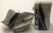 CCM Extreme Flex 3 Goalie Catcher and Blocker NCAA Stock 2