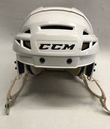 CCM VECTOR V08 PRO STOCK HOCKEY HELMET WHITE MEDIUM