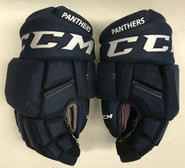 "CCM HGQL Pro Stock Custom Hockey Gloves 14"" NHL Panthers #22"