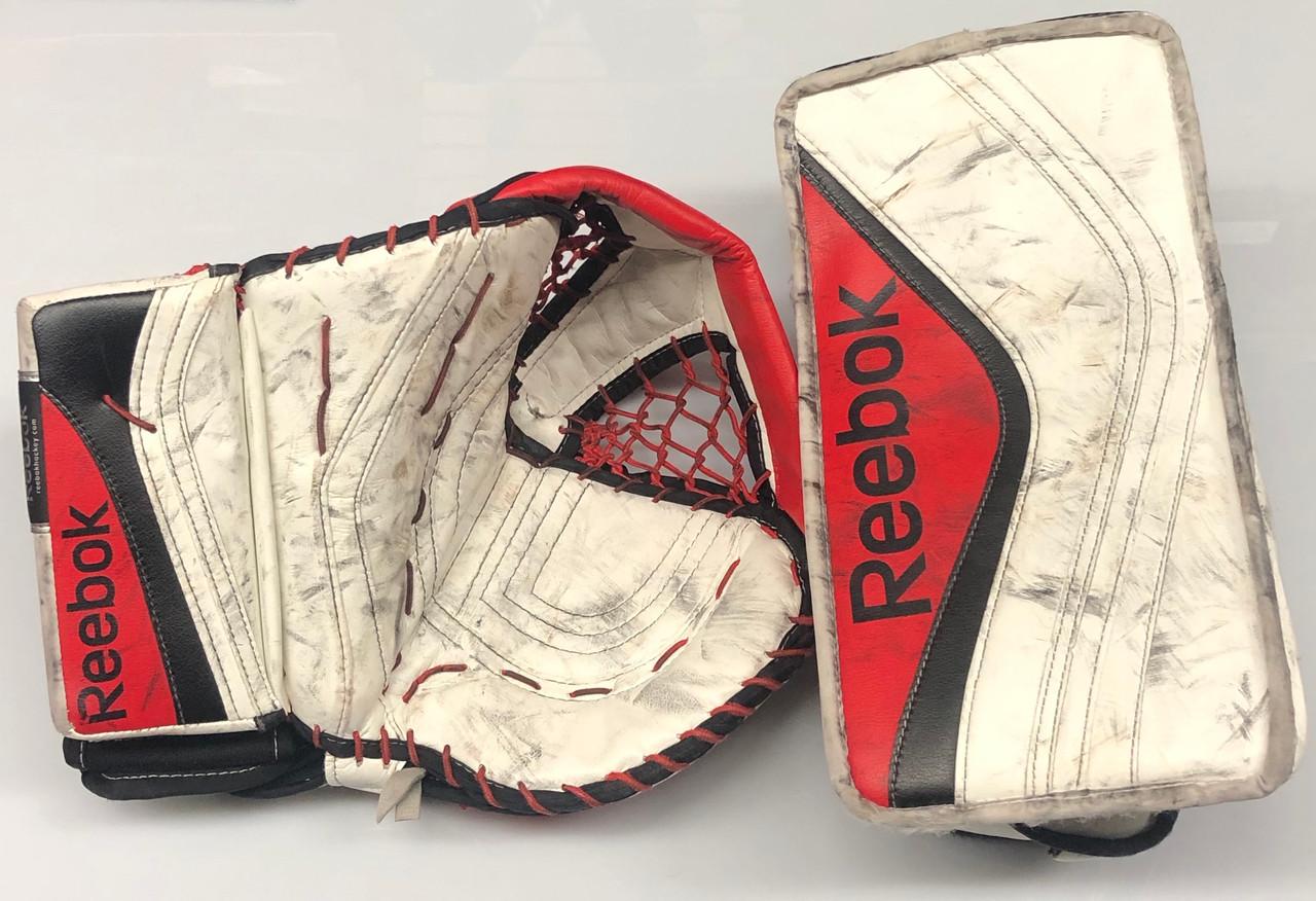 Santuario diferencia Leyes y regulaciones  Reebok XLT Goalie Glove and Blocker Custom Pro stock NCAA Used - DK's  Hockey Shop