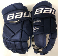 "Bauer Vapor 1X Lite Pro Stock Custom Hockey Gloves 14"" Navy NHL Panthers HEN"