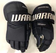 """Warrior Covert QRE Pro Stock Custom Hockey Gloves 14"""" Navy Blue Mccoshen NHL"""