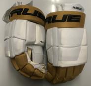 "True A 6.0 Pro Stock Custom Hockey Gloves 15"" Vegas Golden Knights Hague White"