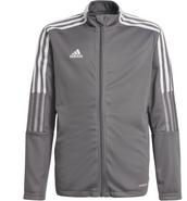 Somers Youth Soccer Adidas Tiro 21 Track Jacket Grey