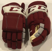 "CCM HG97 Pro Stock Custom Hockey Gloves 14"" Umass Amherst New"