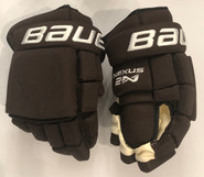 "Bauer Nexus 2N Pro Stock Custom Hockey Gloves 14"" Bruins 2019 Winter Classic Kampfer"