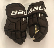 "Bauer Supreme 1S Pro Stock Custom Hockey Gloves 14"" Bruins 2019 Winter Classic"