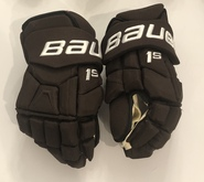 "Bauer Supreme 1S Pro Stock Custom Hockey Gloves 15"" Bruins 2019 Winter Classic Heinen"