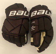 "Bauer Vapor 1X Pro Custom Pro Stock Hockey Gloves 14"" Bruins 2019 Winter Classic Wagner"