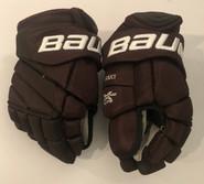"Bauer Vapor 1X Lite Pro Custom Pro Stock Hockey Gloves 13"" Bruins 2019 Winter Classic Krejci"