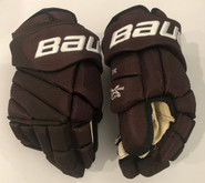 "Bauer Vapor 1X Lite Pro Custom Pro Stock Hockey Gloves 14"" Bruins 2019 Winter Classic JFK"