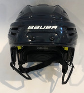 BAUER IMS 9.0 PRO STOCK HOCKEY HELMET NAVY BLUE MEDIUM WOLFPACK AHL