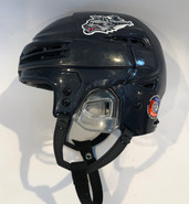BAUER REAKT 100 PRO STOCK HOCKEY HELMET NAVY BLUE MEDIUM WOLFPACK AHL