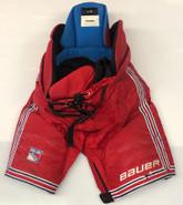 Bauer Nexus Custom Pro Stock Hockey Pants LARGE New York Rangers NHL Used 2