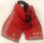 CCM HP45 Pro Stock Hockey Pants Medium New York Rangers NHL Used