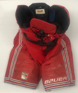 Bauer Custom Pro Stock Hockey Pants LARGE New York Rangers NHL Used 3