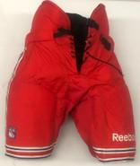 Reebok MHP52 Custom Pro Stock Hockey Pants XL New York Rangers Used