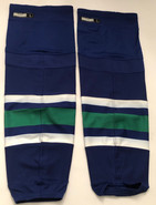 REEBOK EDGE CUSTOM HOCKEY SOCKS CT WHALE GREEN PRO STOCK NHL LARGE NEW