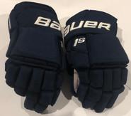 "Bauer Supreme 1S Pro Stock Custom Hockey Gloves 14"" Panthers Mccoshen NHL Used (2)"