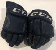 "CCM HG12 Pro Stock Custom Hockey Gloves 14"" Thunderbirds #8 AHL Used"