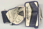 Bauer Reactor 9000 Goalie Glove and Blocker NIXON Pro Stock