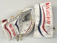 Vaughn Velocity V4 V6 Goalie Glove and Blocker MALCOLM Hartford Wolfpack Pro stock AHL