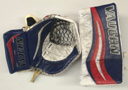 Vaughn Velocity V7 XF Carbon Goalie Glove and Blocker Halverson Hartford Wolfpack Pro stock AHL