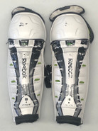 "Reebok 11K Pro Stock Sr Shin Guards Pads 16"" Used"