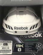 REEBOK 11K PRO STOCK HOCKEY HELMET WHITE SMALL NEW