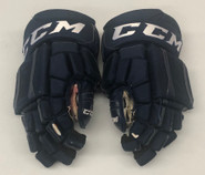 "CCM U+ CL Pro Stock Custom Hockey Gloves 15"" Panthers #34 NHL Used"