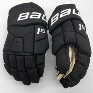 "BAUER SUPREME 1S CUSTOM PRO STOCK HOCKEY GLOVES BLACK 13"" NCAA (2)"
