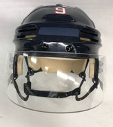 BAUER 4500 PRO STOCK HOCKEY HELMET NAVY MEDIUM WOLFPACK #9 AHL CCM VISOR