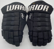 "WARRIOR AX1 PRO CUSTOM PRO STOCK HOCKEY GLOVES BLACK 13"" VATRANO BRUINS NHL USED MIX MATCH CPR"