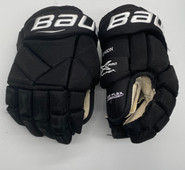 "BAUER VAPOR 1X PRO CUSTOM PRO STOCK HOCKEY GLOVES BLACK 13"" NCAA USED (2)"