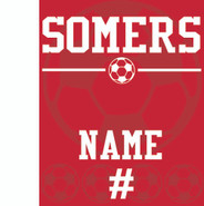 Somers Soccer Sublimated Fleece Sport Stadium Blanket