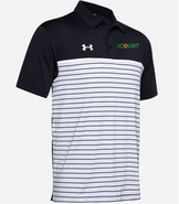 The Court Under Armour Stripe Mix Up Polo Black